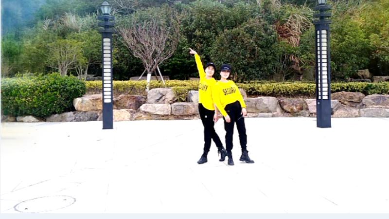 红蝶广场舞伤心的雪花-火爆原创双人对跳32步附分解