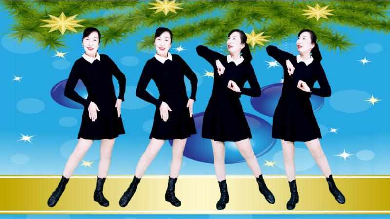 美丽秋霜广场舞揣着梦想走-原创32步附教学