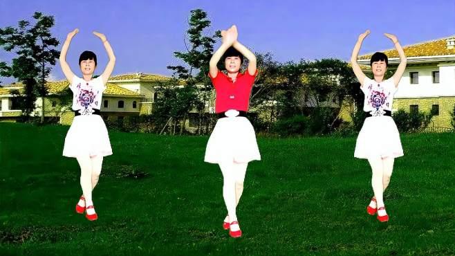 鸽子广场舞粉红的回忆-歌声悦耳动听,简单又好看