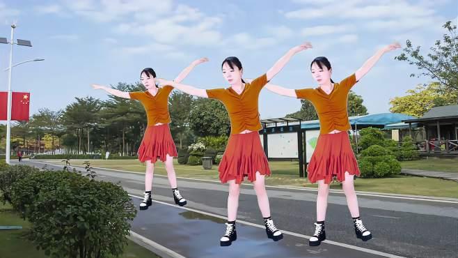 素萱广场舞一首想家的歌-32步优美好看好学原创,唯美舞曲