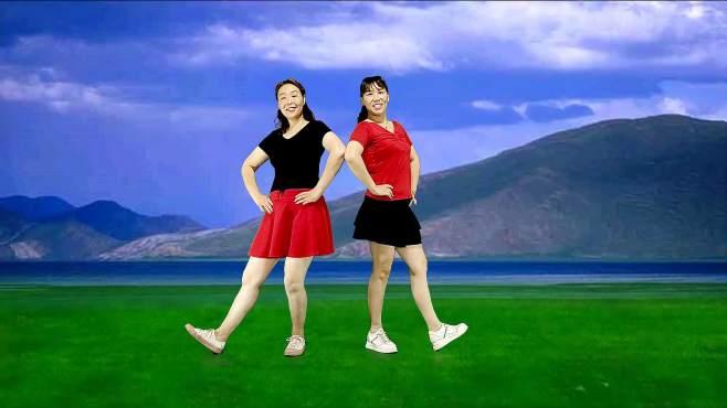 飞魅广场舞山卡拉的家-水兵舞对跳32步优美民族歌曲