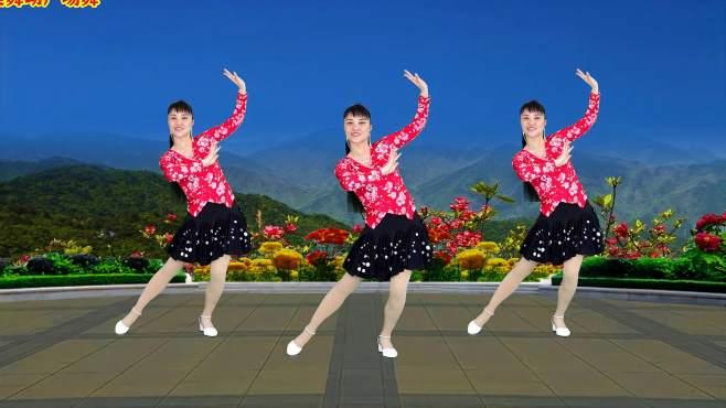 华美舞动广场舞拈花一笑-最新流行歌曲,独特的动作真带劲