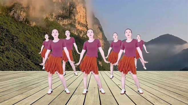 素萱广场舞对面的小姐姐-动感活力简单好学