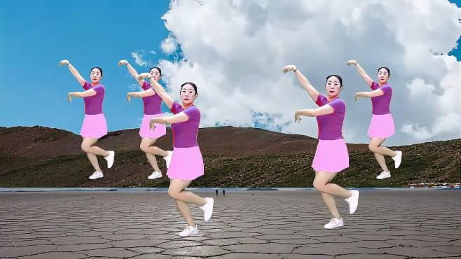 瑾怡的广场舞花开情脉脉-美女妖娆舞姿
