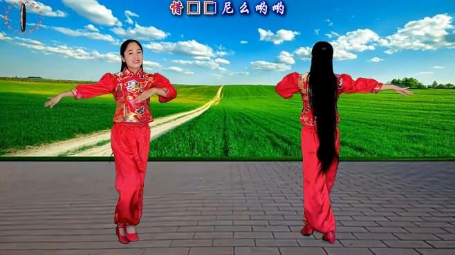 菲菲8广场舞我是云南小姑娘-火爆踩点舞简单20步