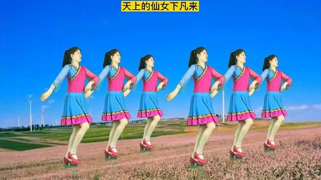 妃子红广场舞醉在花海-动作简单优美,清新好看!