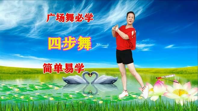 蝶舞芳香广场舞无聊的游戏-4步舞,零基础舞步教学(侧点+前点)一学就会