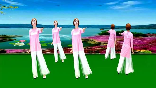 广州红色枫叶广场舞拈花一笑-正背面演绎