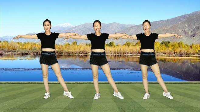 十里清清广场舞5分钟塑型操-提拉线条,完美身材