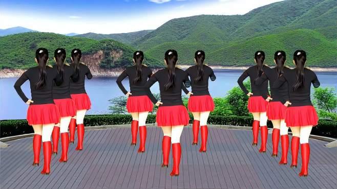 鸽子广场舞山水唱情歌-老歌经典好听,32步简单又好看