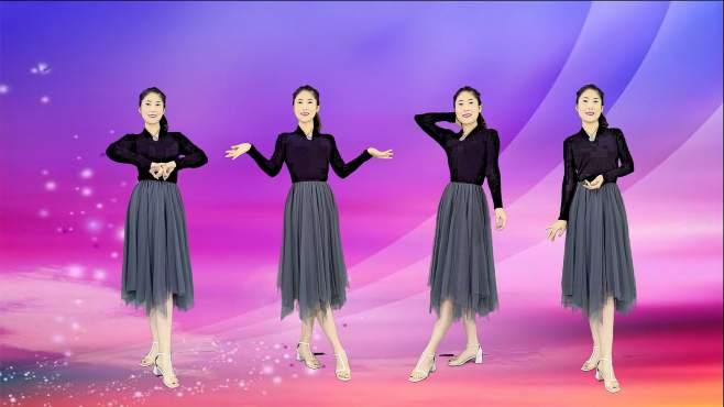 当下小红人广场舞我愿一直陪着你-欢快舞步,好听好看!