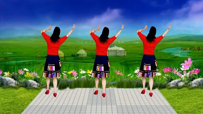 蝶舞芳香广场舞卓玛-天籁的歌声,满满的回意背面演示