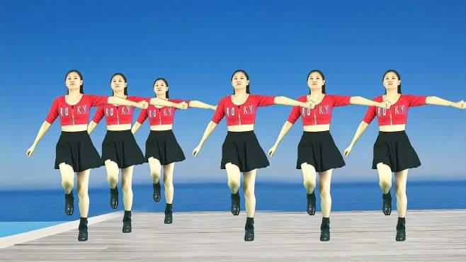 妃子红广场舞铿锵玫瑰-弹跳32步,跟着节奏越跳越嗨