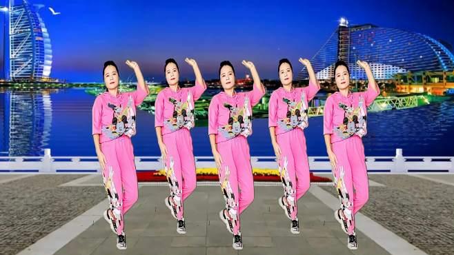 玫瑰怡林广场舞对你的承诺永远不会变-深情伤感,舞步轻盈