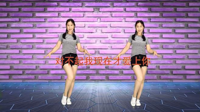 十里清清广场舞对不起现在才爱上你-配上小飘步,太帅气了