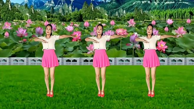 玫瑰怡林广场舞三生石上一滴泪-深情感人,优美舞步