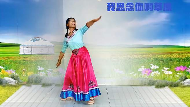 踏雪寻梅广场舞我思念你啊草原-用肢体语言展现了对草原的无尽思念之情!