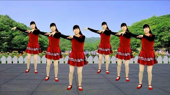 鸽子广场舞九九艳阳天-熟悉的旋律真好听,简单又好看