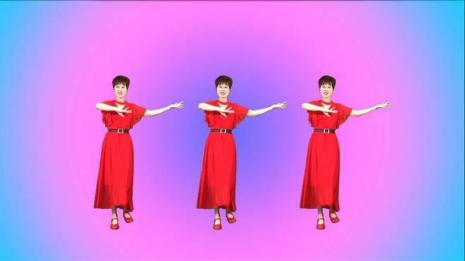 舞动朝阳广场舞拈花一笑-舞姿绚丽多彩好看极了!