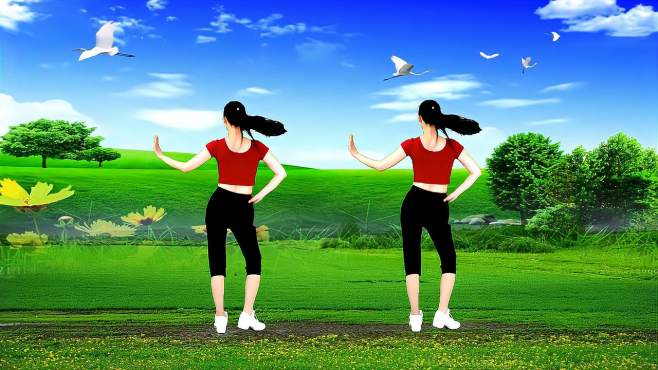 阳光香果广场舞中国情中国爱-瘦腰瘦腿瘦全身,坚持就有效