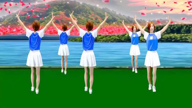 广州红色枫叶广场舞小苹果-正背面演绎一样精彩