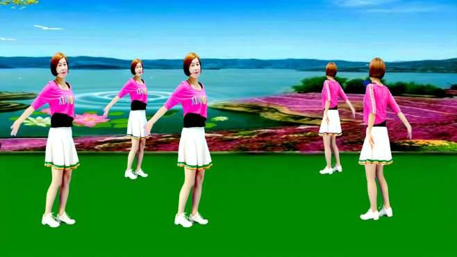 广州红色枫叶广场舞纳西情歌-正背面演绎一样精彩