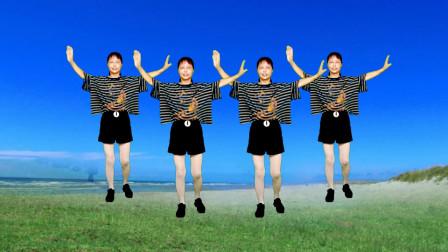 高安迷采广场舞爱情十八拍-六十八步简单步伐,歌甜舞美