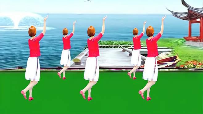 广州红色枫叶广场舞最后的倾诉-背面演绎一样精彩漂亮
