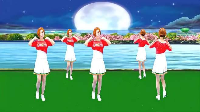 广州红色枫叶广场舞想啊-正背面演绎一样精彩漂亮