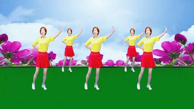 广州红色枫叶广场舞红颜知己-音乐好听舞蹈好看