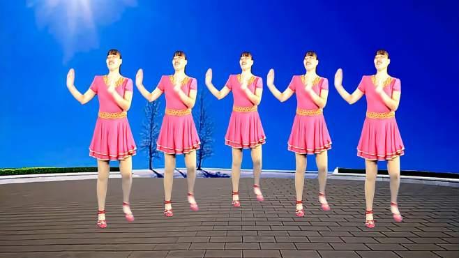 济阳红霞广场舞带我去远方-舞步潇洒自如简单好看