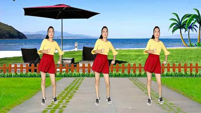 玫瑰怡林广场舞天蓝蓝-舞步大气好看