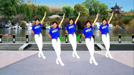 高安迷采广场舞山河美-气势豪迈的歌曲,满满正能量,步伐时尚附教学