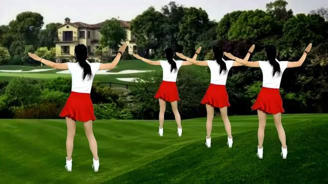 鸽子广场舞为了梦想闯一闯-节奏欢快动感,舞步简单易学