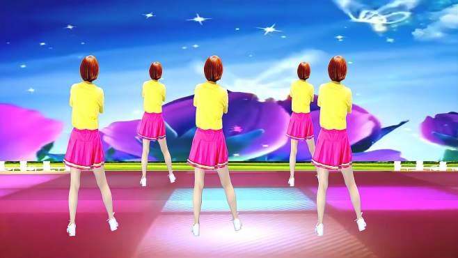 广州红色枫叶广场舞爱情路上风雨多-背面演绎一样精彩漂亮