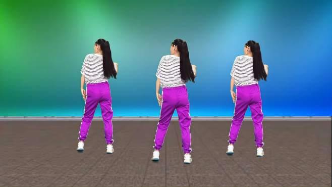 玫香广场舞天蓝蓝-动感时尚,网红64步正背面演示