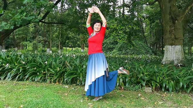 康顺碧广场舞美丽的草原我的家-,大龙完整版演示