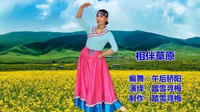 踏雪寻梅广场舞相伴在草原-悦耳动听,欢快轻松愉悦!江央扎西演唱!