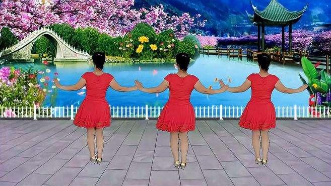 郴州冬菊广场舞满山红杜鹃-魔性秧歌舞好看又简单跟着我慢动作背面带跳