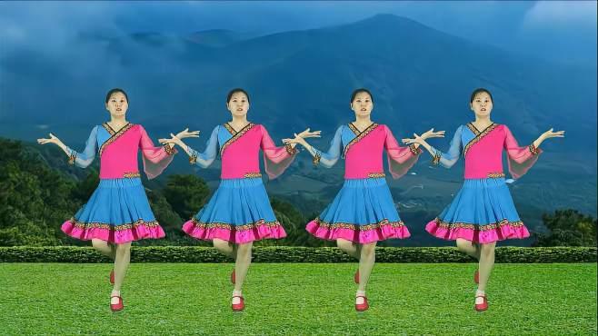 妃子红广场舞草原上美丽的姑娘-欢快舞步热情洋溢,附分解教学