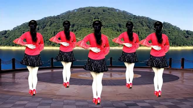 鸽子广场舞北江美-旋律优美动听,简单好看又好学