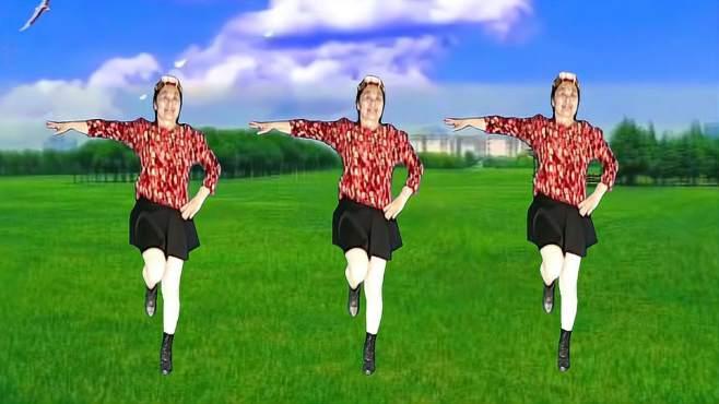 春晖广场舞心中的歌唱给解放军-欢快激情 人人都喜欢!