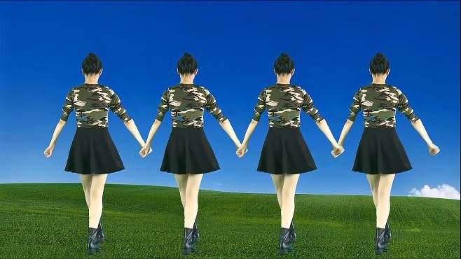 妃子红广场舞美美的黄土坡-悠扬的陕北民歌,舞姿欢快活力真好看