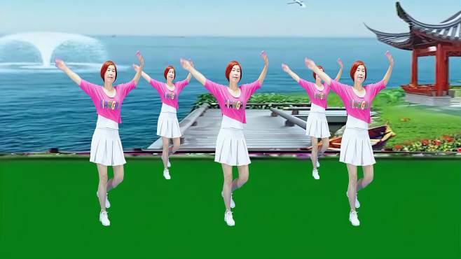 广州红色枫叶广场舞相伴一生-音乐好听舞蹈好看