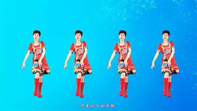 舞动朝阳广场舞雪山阿佳-赏心悦目的舞姿优美大气