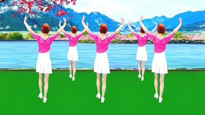 广州红色枫叶广场舞相伴一生-背面演绎一样精彩漂亮