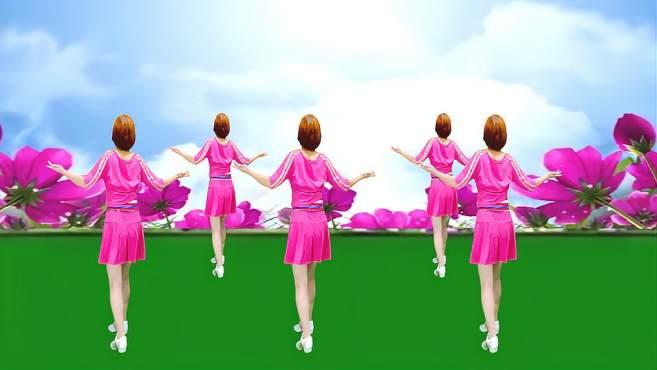 广州红色枫叶广场舞我的快乐就是想你-背面演绎一样精彩漂亮