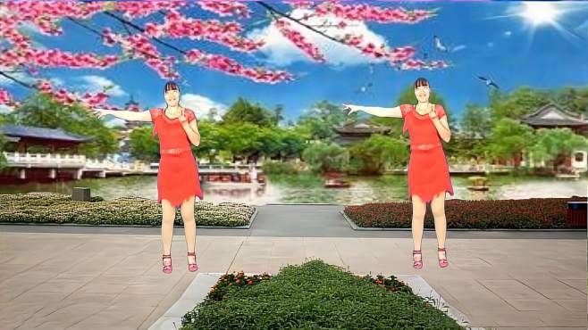 济阳红霞广场舞一枝红杏-旋律优美简单好看