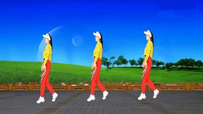 阿梅原创广场舞想你是时候问月亮-背面附教学