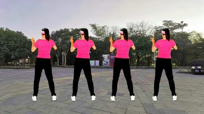 舞韵年华广场舞要爱你就来-背面,适合收腹运动大众健身操